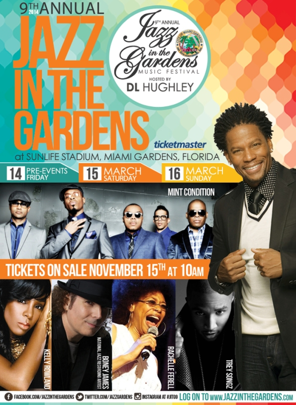 9th Annual Jazz in the Gardens poster